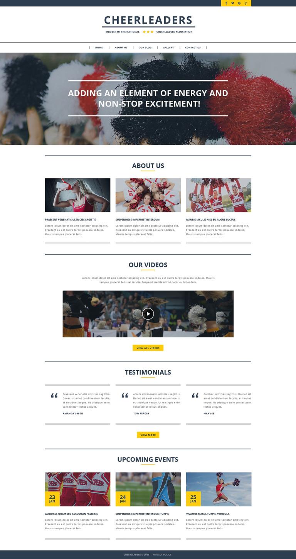 Cheerleading Responsive Website Template New Screenshots BIG