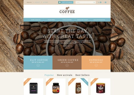 Coffee Shop Responsive