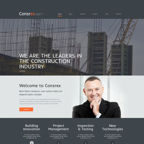 Consrex - WordPress Template based on Bootstrap