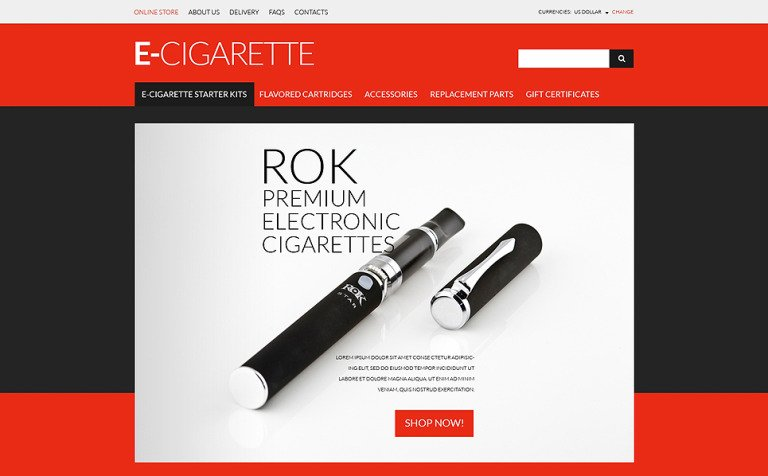 ECigs Vaping Supplies VirtueMart Template - Free printable invoice forms online vape store
