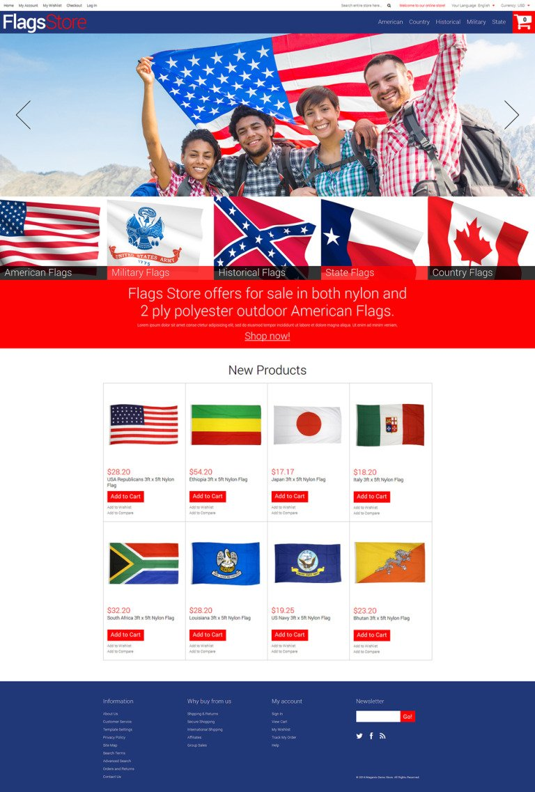 Flags Shop Magento Theme New Screenshots BIG