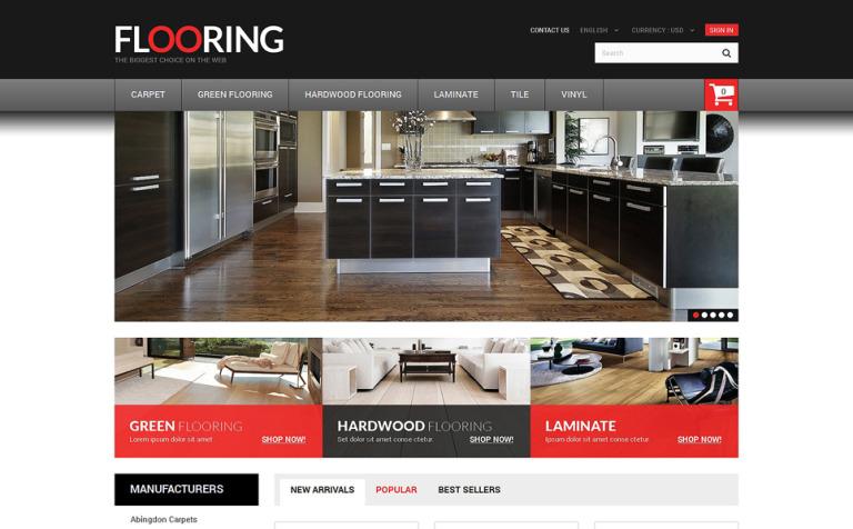 10 Beautiful Flooring PrestaShop Website Templates