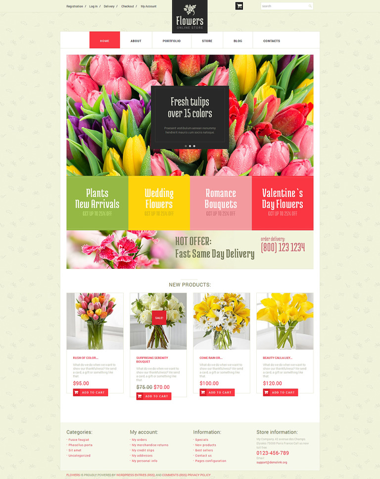 Floristic Store WooCommerce Theme New Screenshots BIG