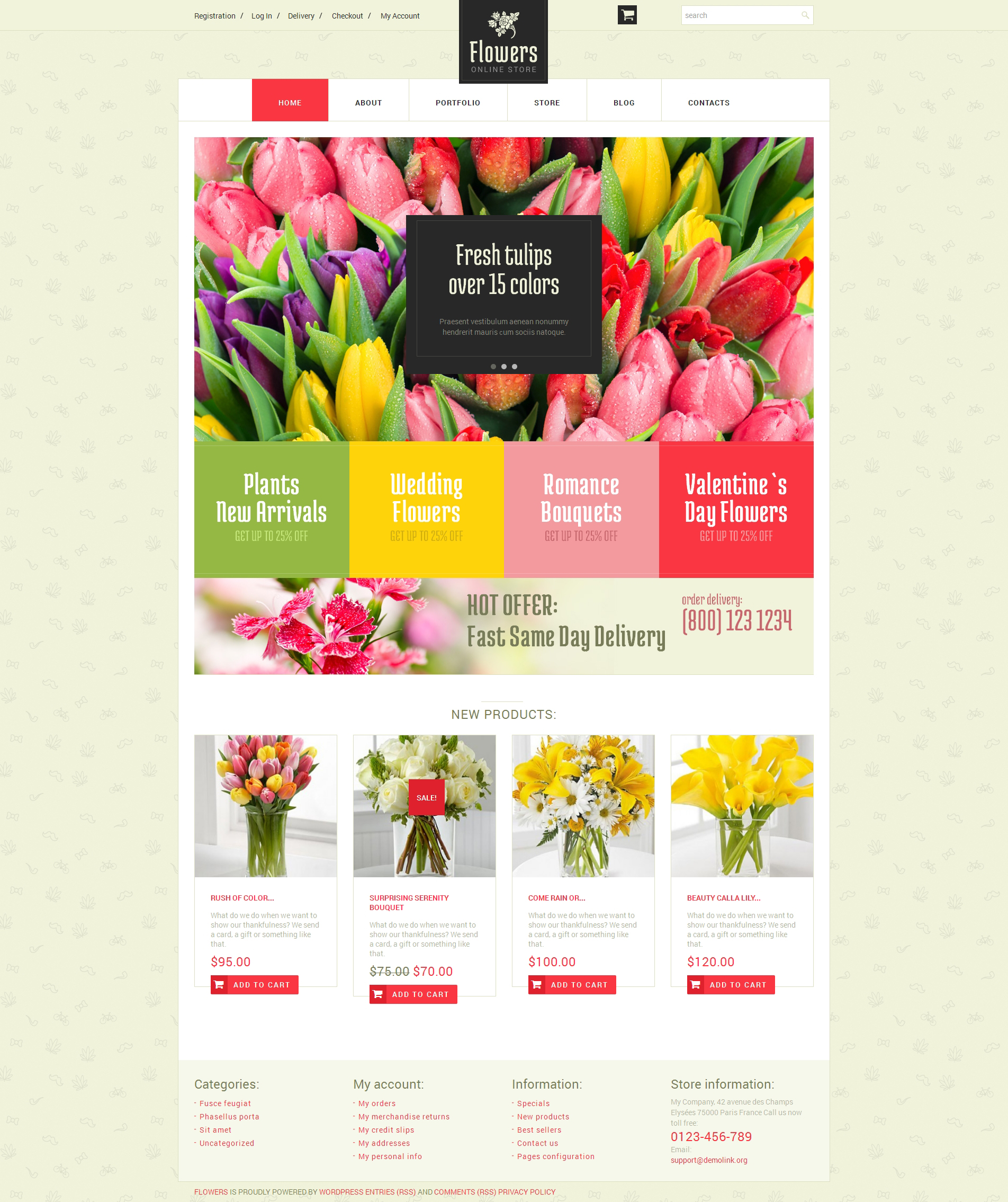 Floristic Store WooCommerce Theme - screenshot