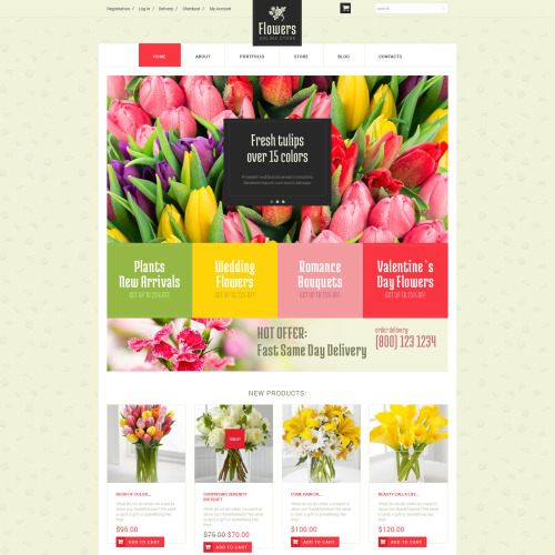 Flowers   - WooCommerce Template based on Bootstrap