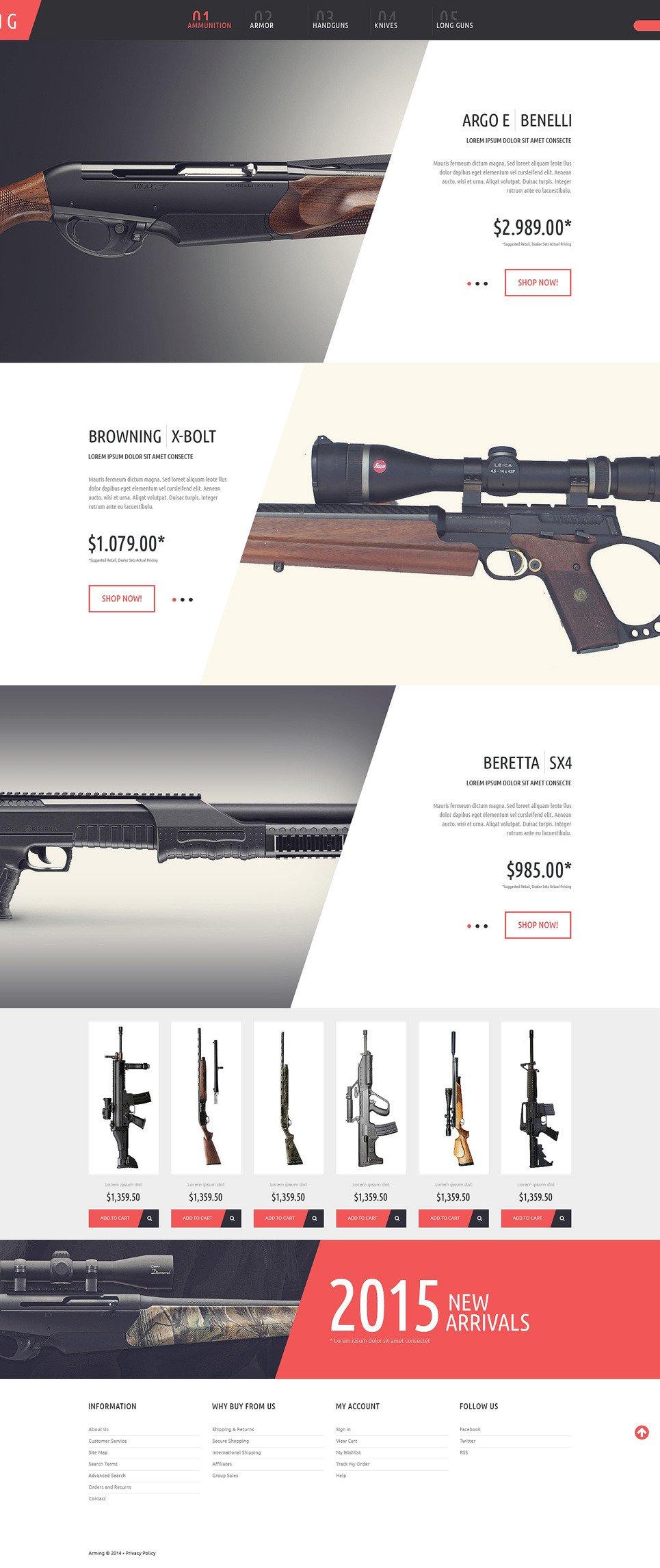 Gun Shop PSD Template New Screenshots BIG
