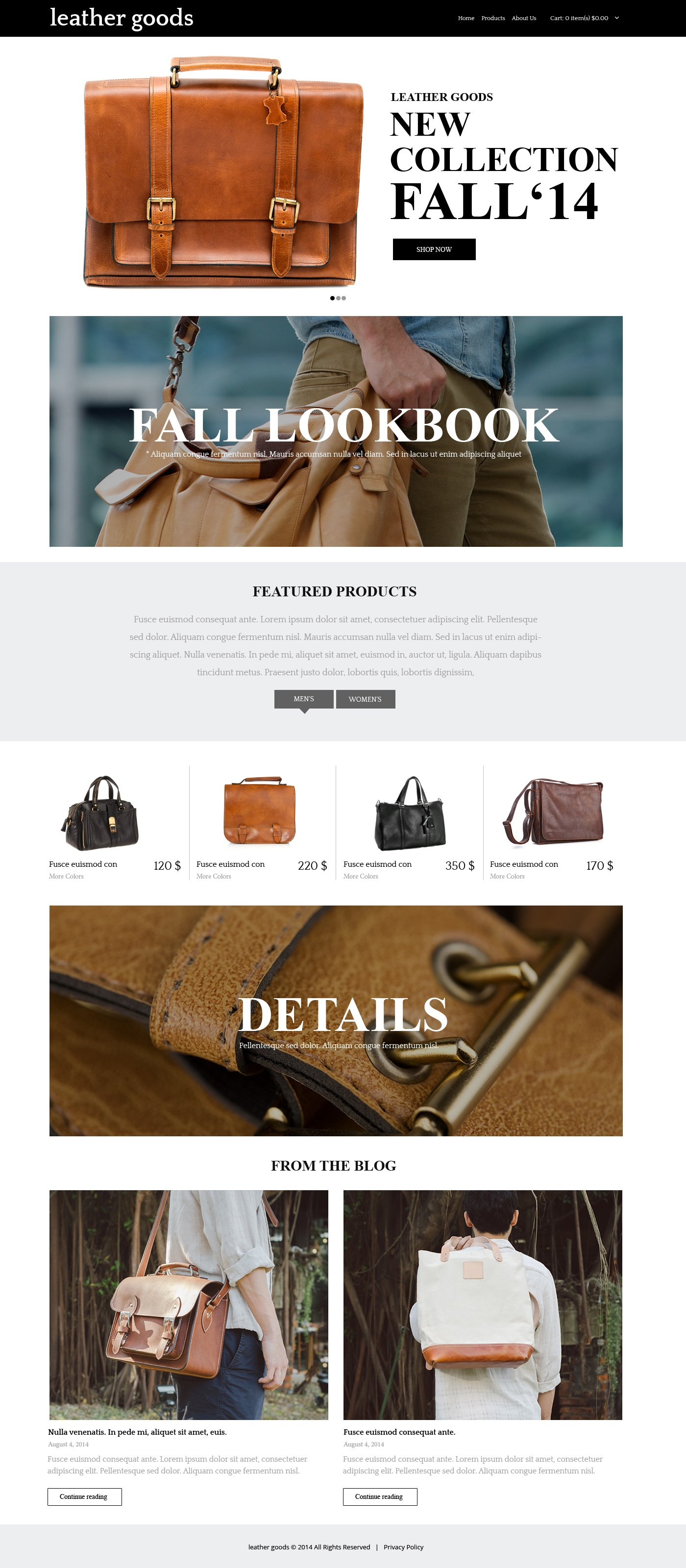 Handbag PSD Template - screenshot