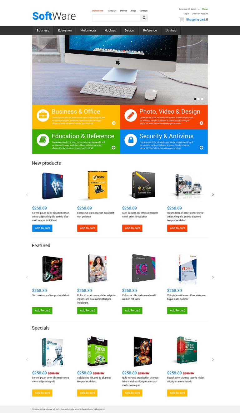 Highend Office Software VirtueMart Template New Screenshots BIG