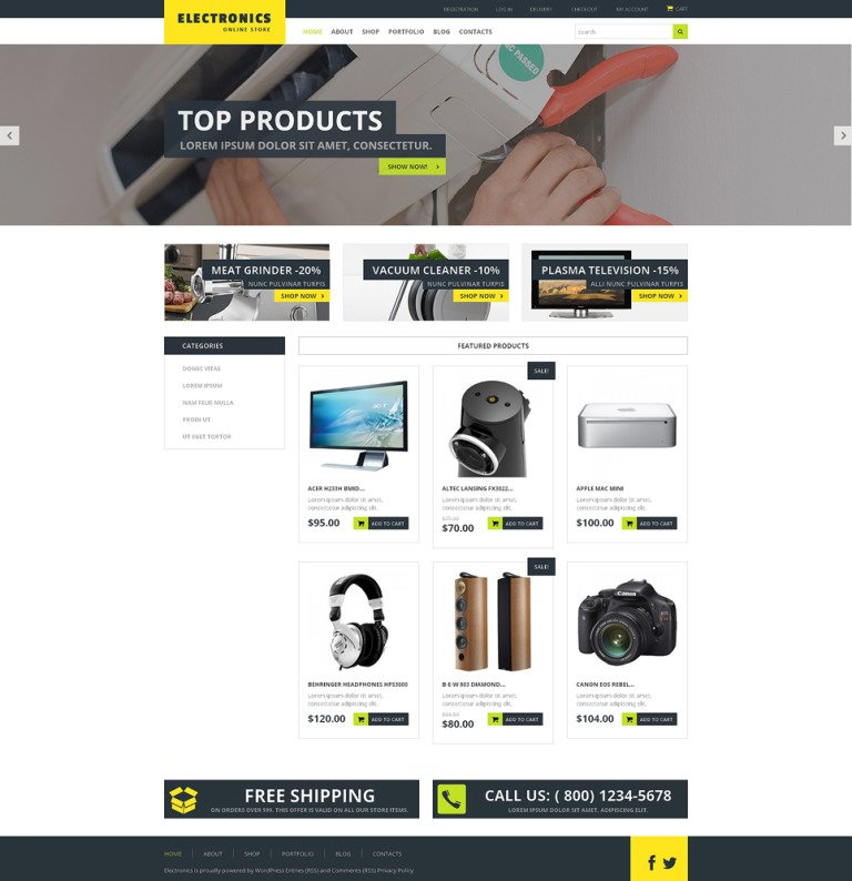 Home Electronics WooCommerce Theme New Screenshots BIG
