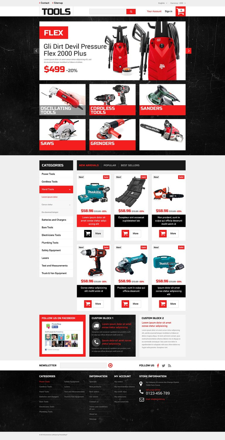 Home Improvement Tools PrestaShop Theme New Screenshots BIG