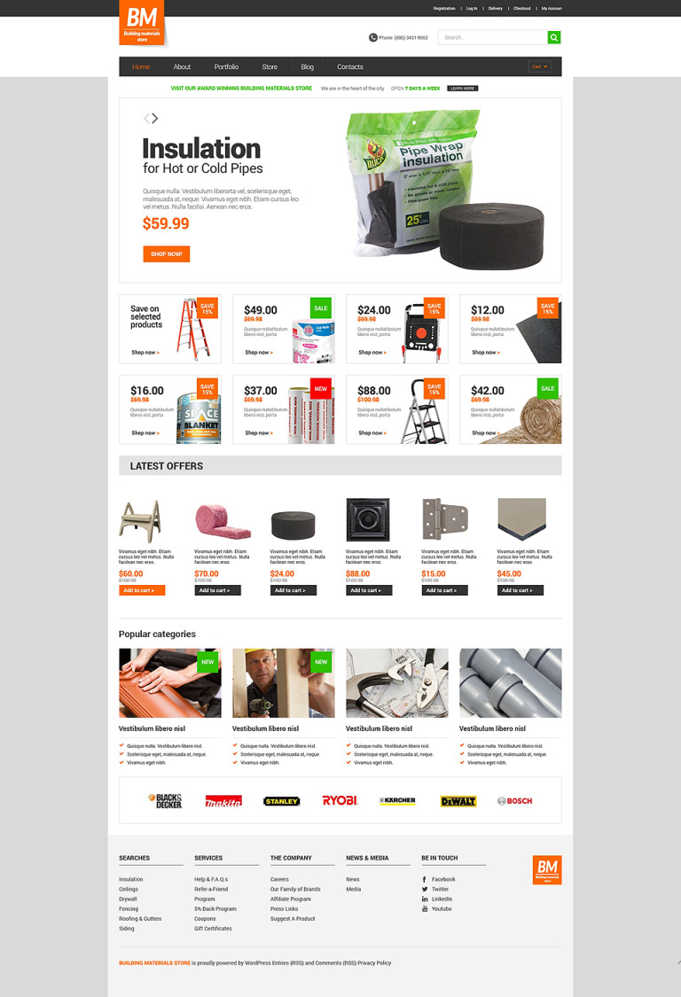 Home Repairs Responsive WooCommerce Theme New Screenshots BIG