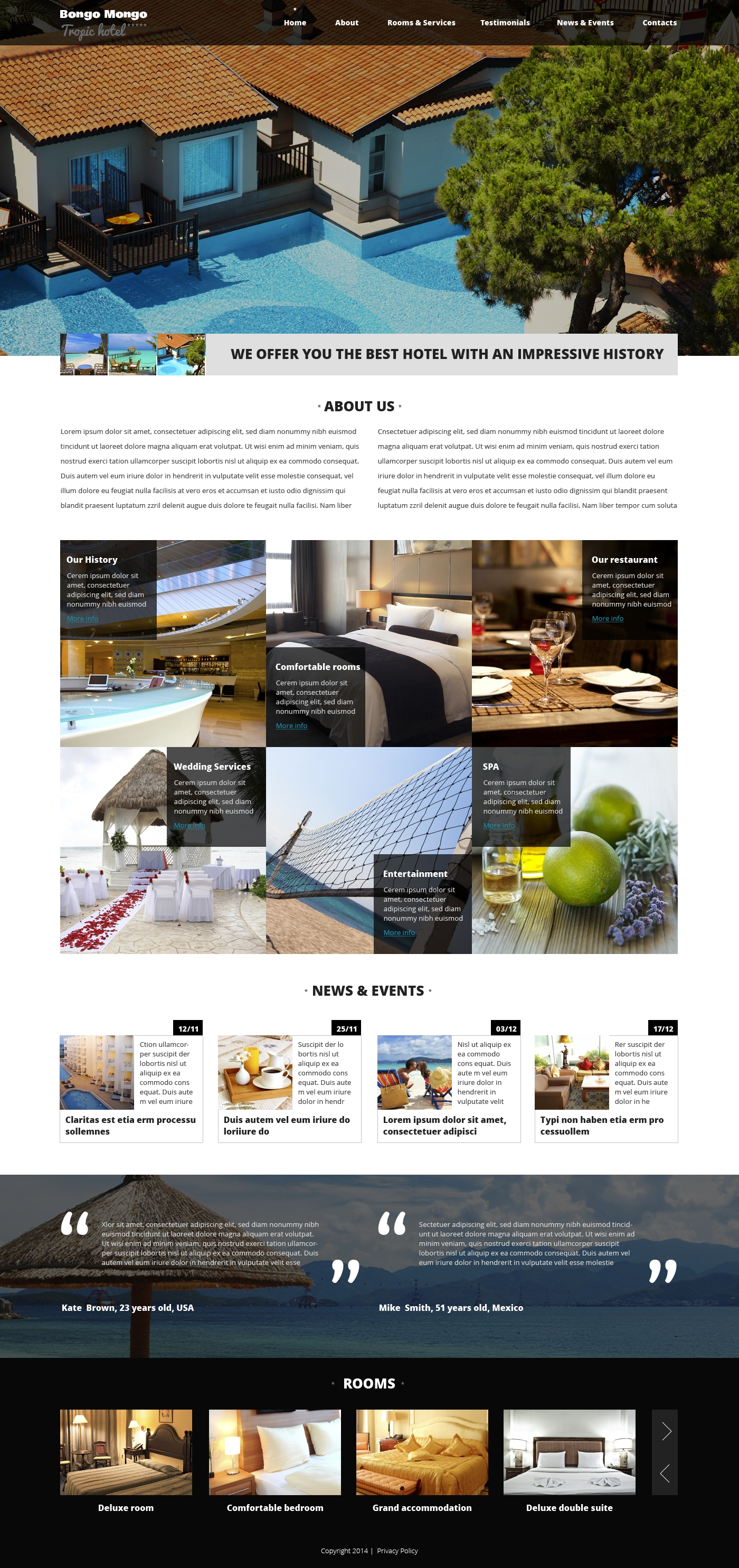 Hotels Drupal Template - screenshot