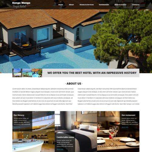 Bongo Mongo Tropic Hotel - HTML5 Drupal Template