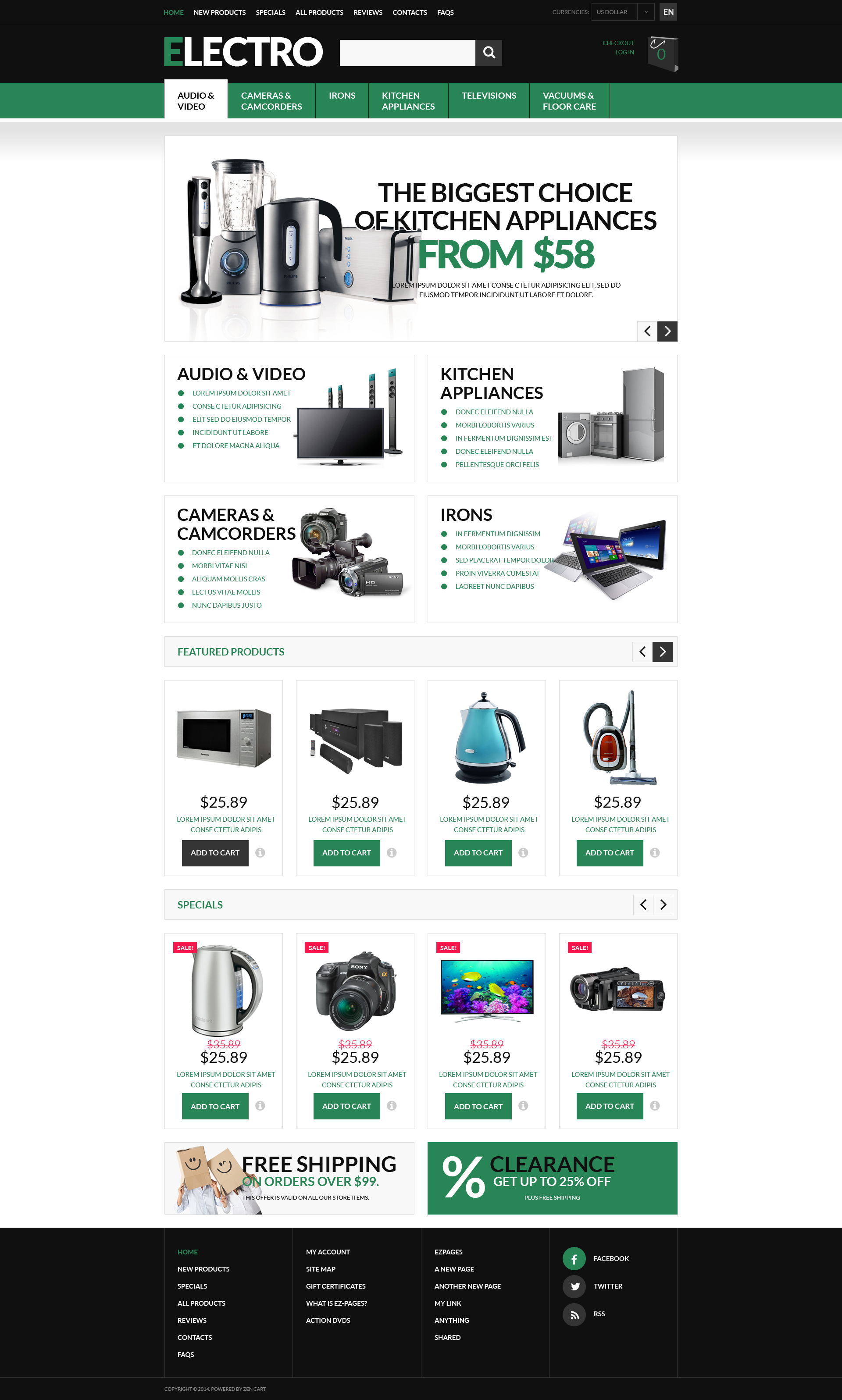Innovative Home Electronics ZenCart Template