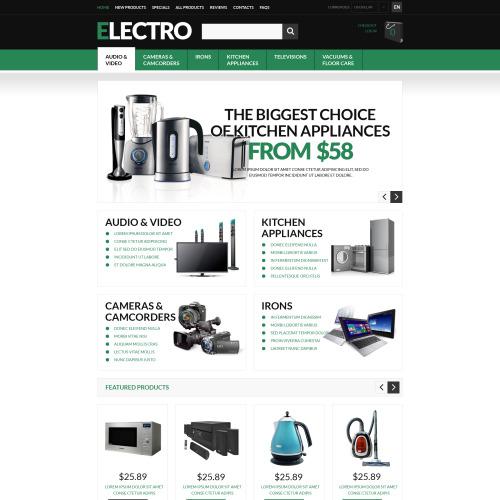 Electro  - HTML5 ZenCart Template