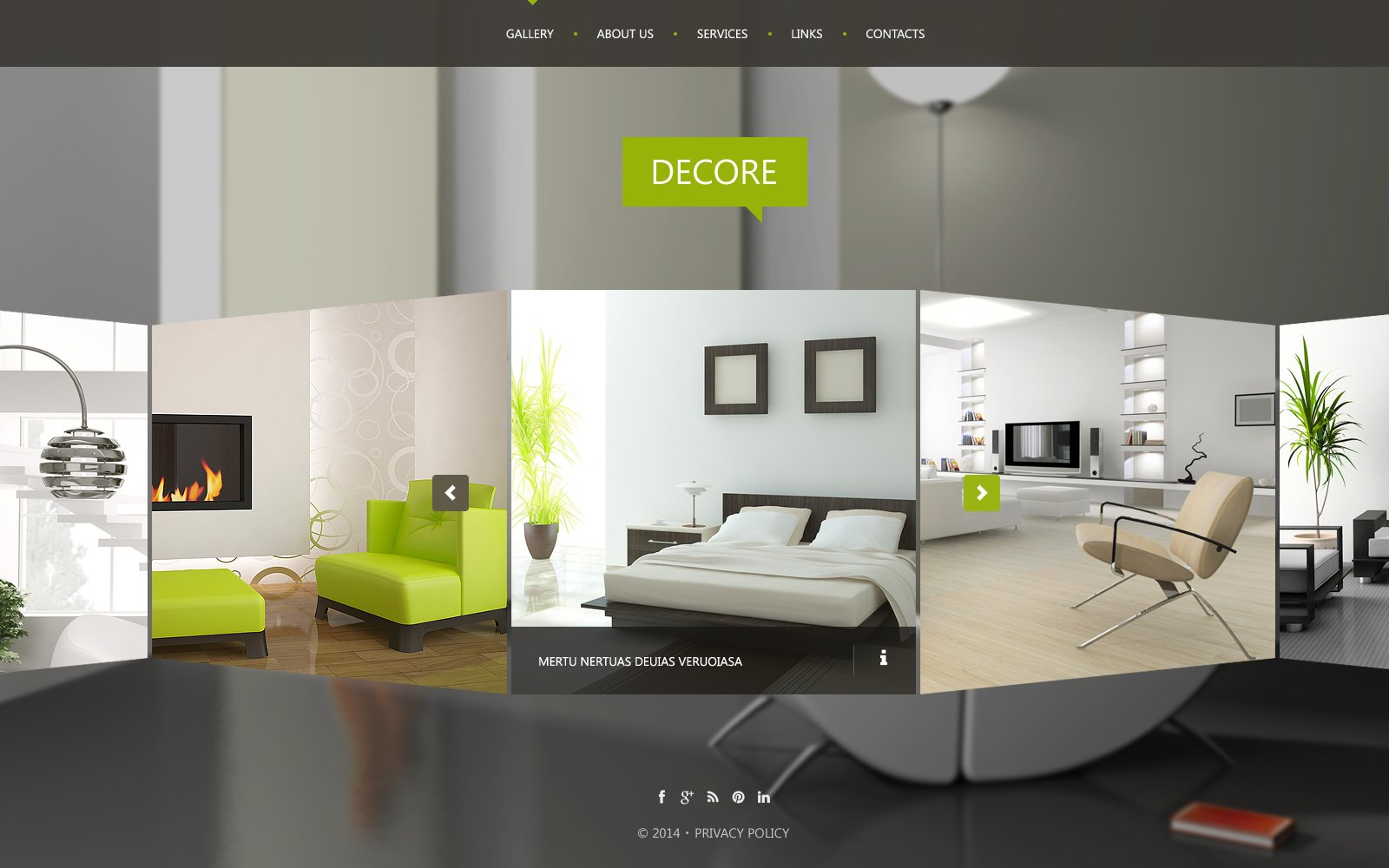 Interior Design Website Template 51116