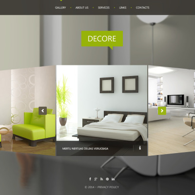 43 best interior design website templates for Interior designs websites