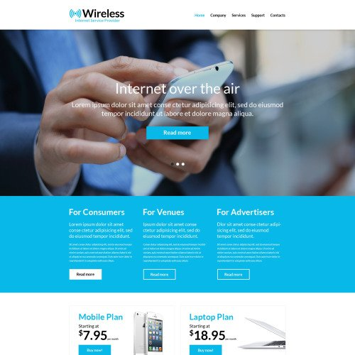 Wireless - Responsive Website Template
