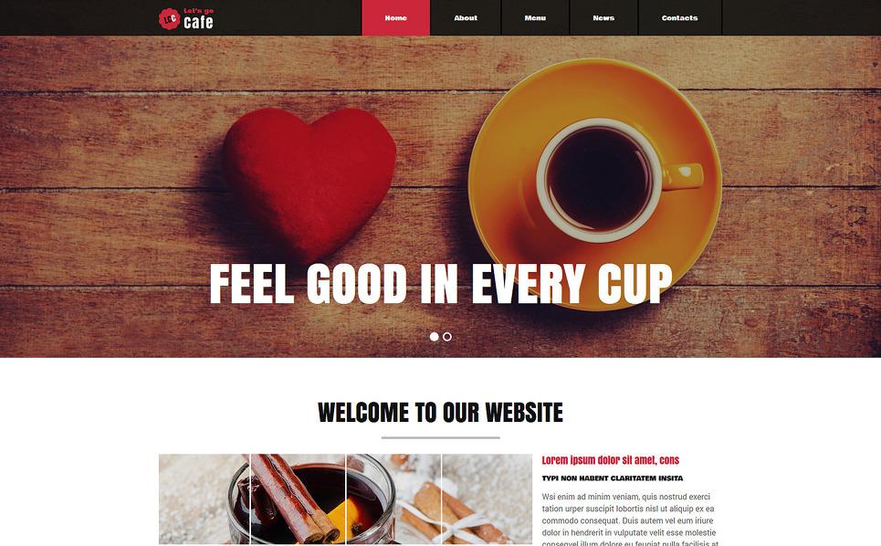 """Joomla Vorlage namens """"Cafe und Restaurant"""" New Screenshots BIG"""