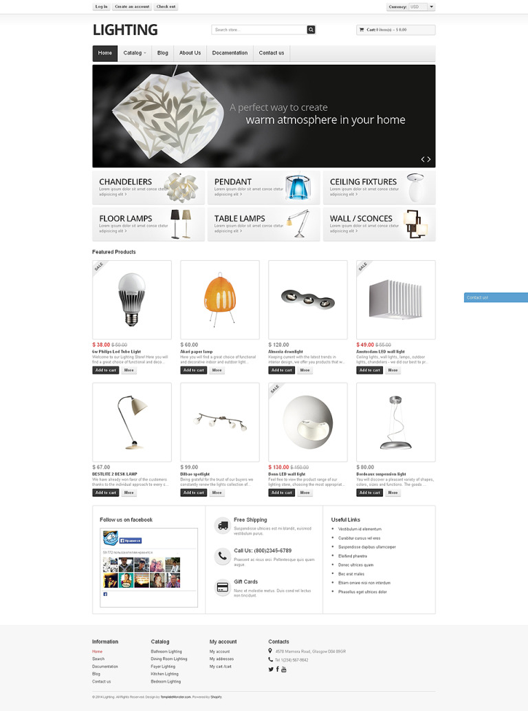 Lighting Shopify Theme New Screenshots BIG
