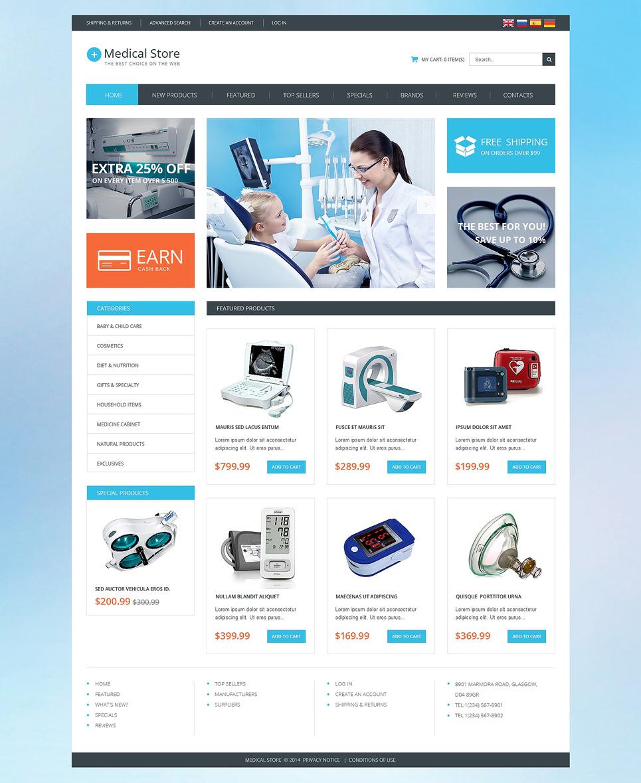 Medical Equipment OsCommerce Template New Screenshots BIG