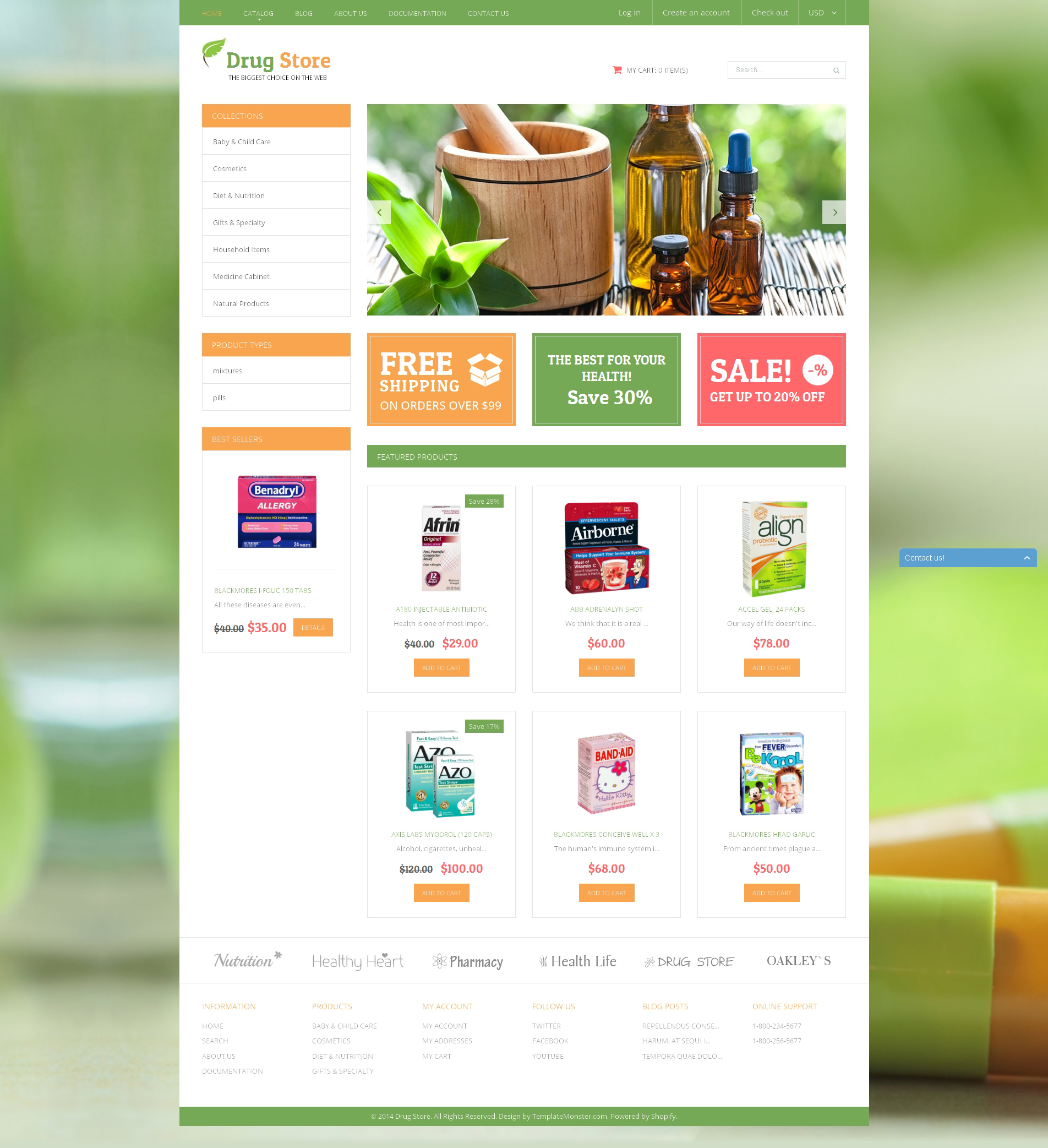 Medical Treatment Substances Shopify Theme