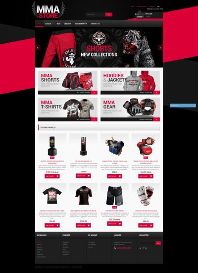 MMA Items Shopify Theme #51197