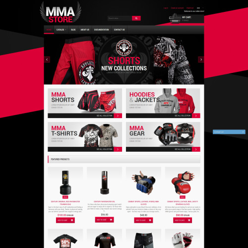 MMA Store - Shopify Template based on Bootstrap