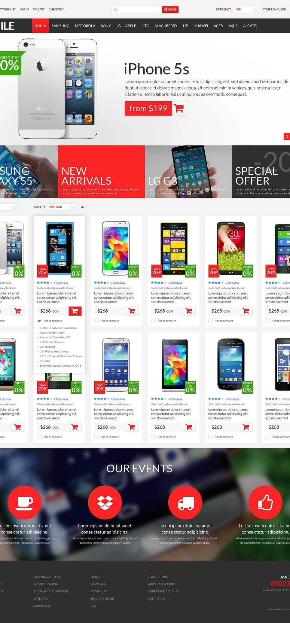 Mobile Store PSD Template New Screenshots BIG
