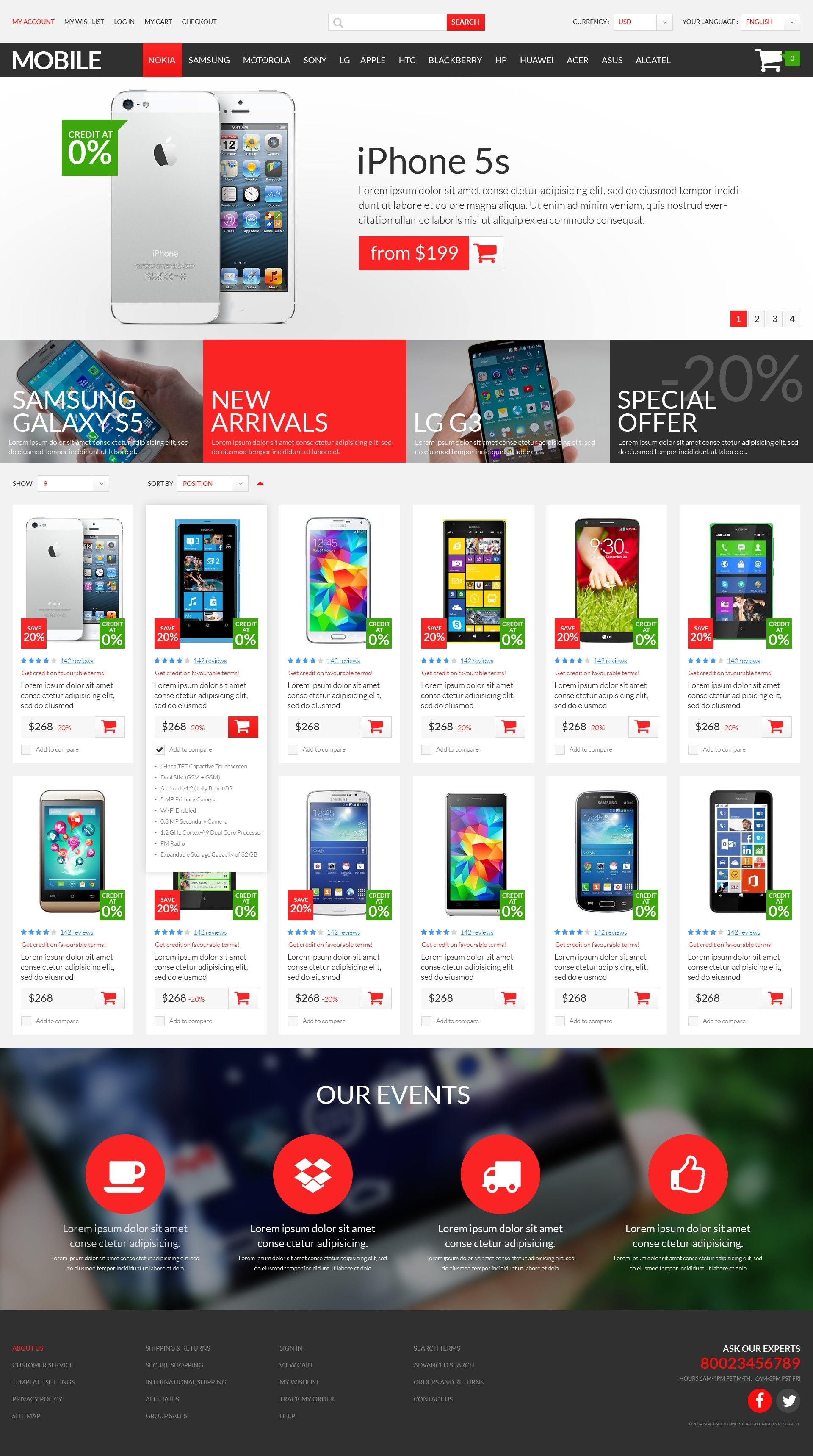 Mobile Store Psd Template 51175