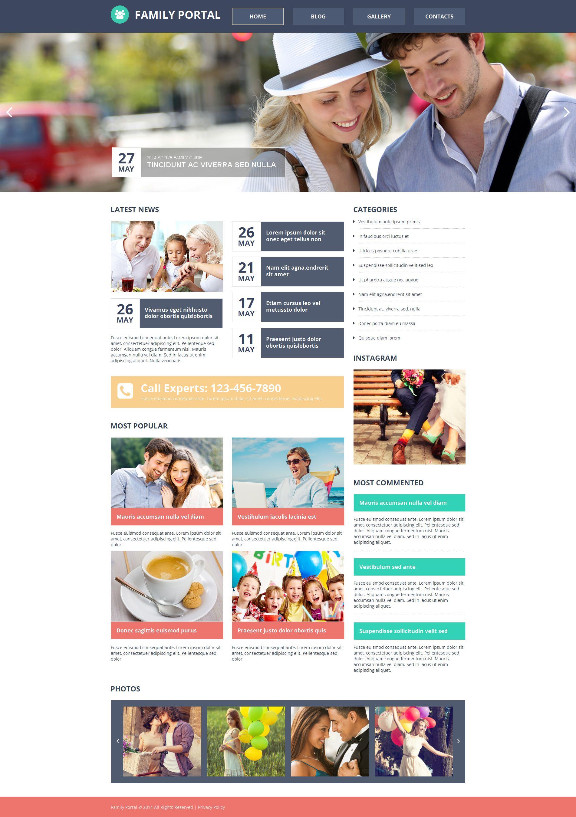 Modèle Moto CMS HTML Premium pour site de Centre familial #51158