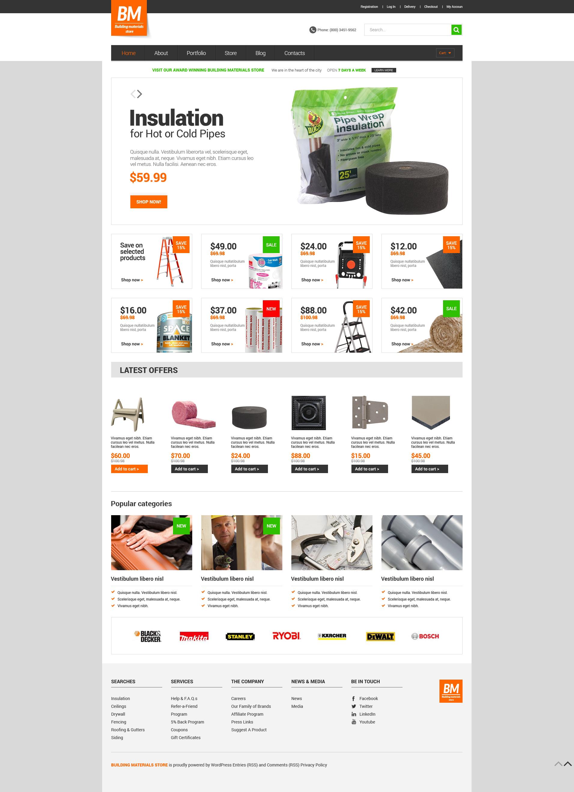 Modello WooCommerce Responsive #51131 per Un Sito di Riparazione Casa