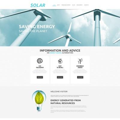 Moto CMS HTML Vorlage für Solarenergie