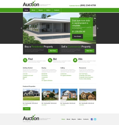Real Estate Agency MotoCMS HTML шаблон