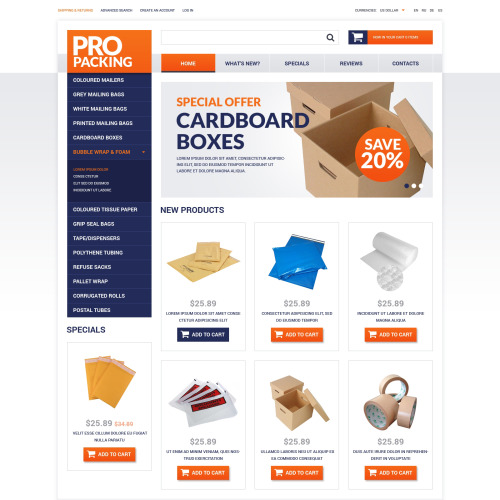 Pro Packing - osCommerce Template
