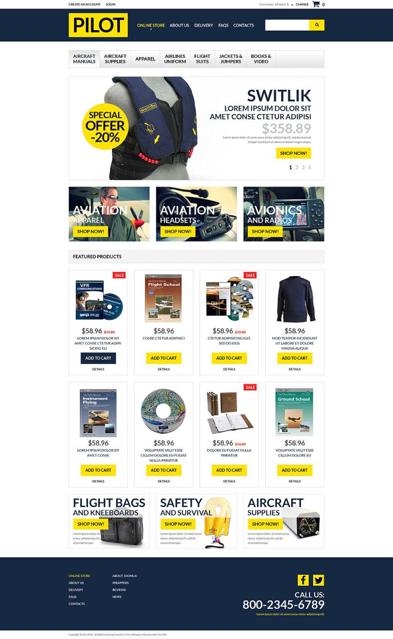 Pilot Shop VirtueMart Template New Screenshots BIG