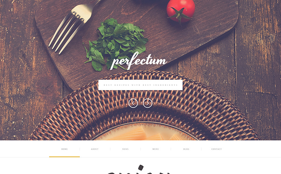 Plantilla Web Responsive para Sitio de Restaurante europeo New Screenshots BIG