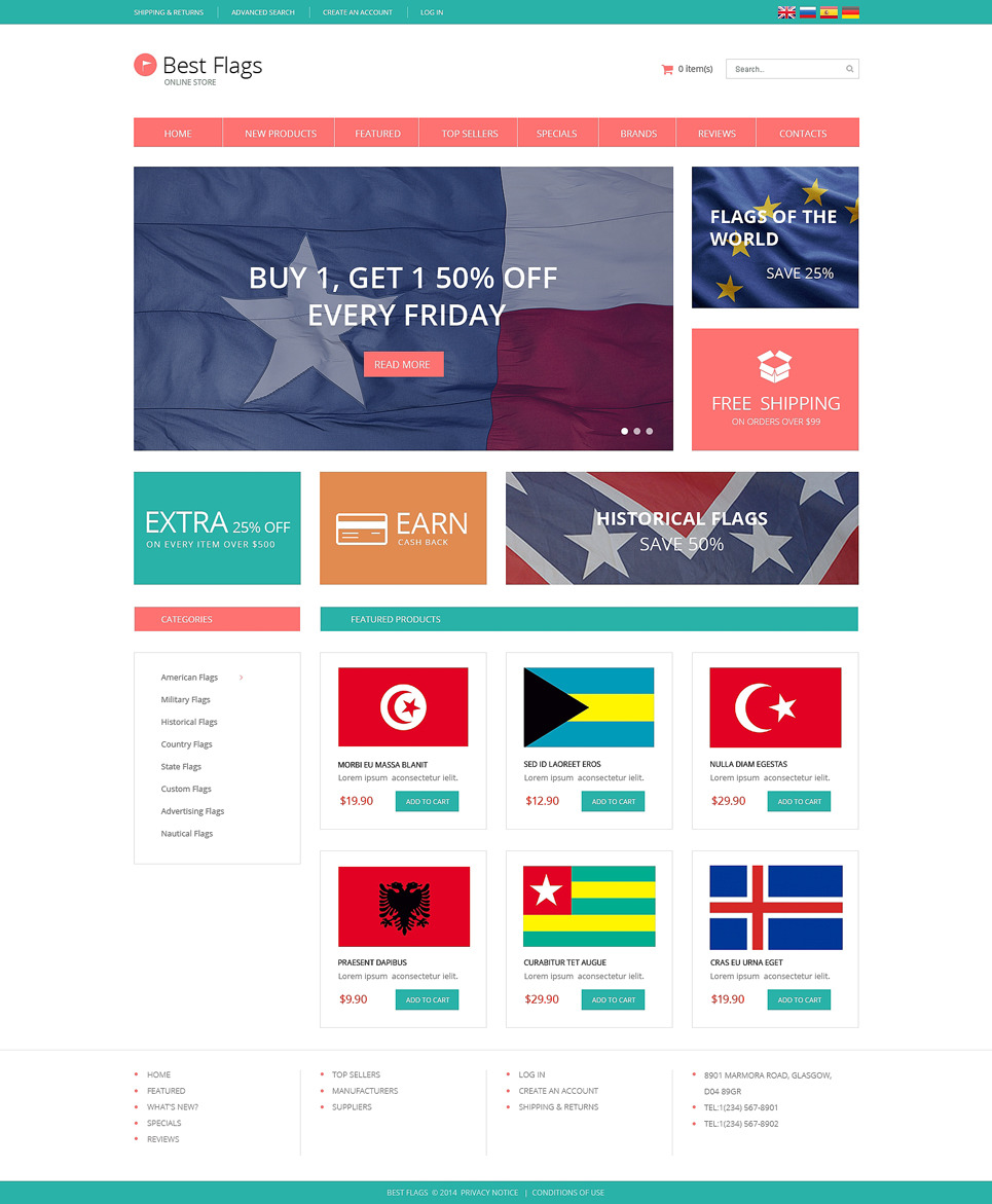 Politics OsCommerce Template New Screenshots BIG