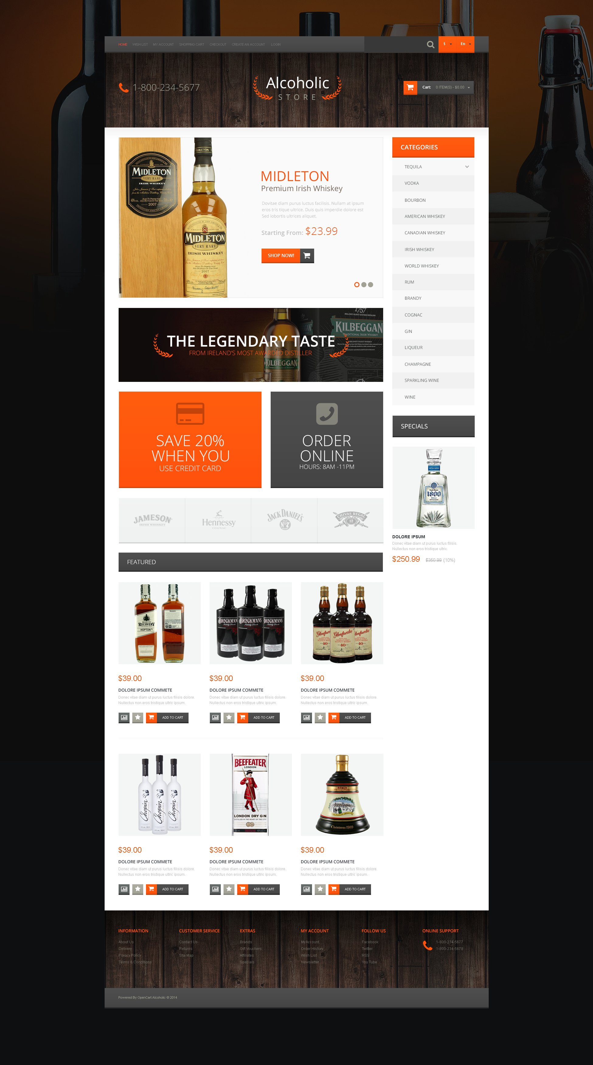 Liquor alcohol store or bar logo template vector image.