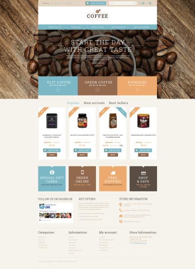 Coffee Shop Responsive PrestaShop Teması