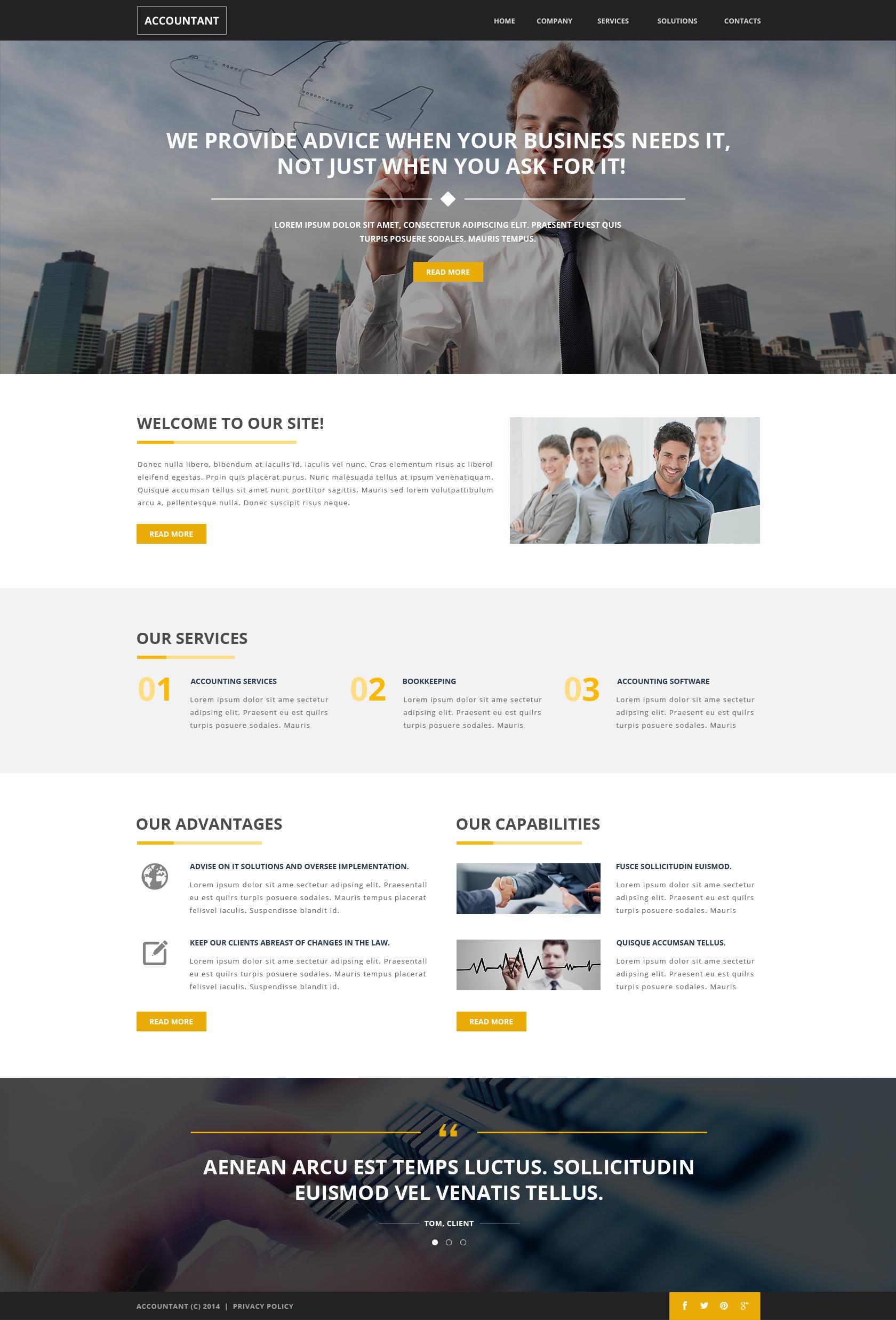 Responsive Website template over Accounting website №51137 - screenshot