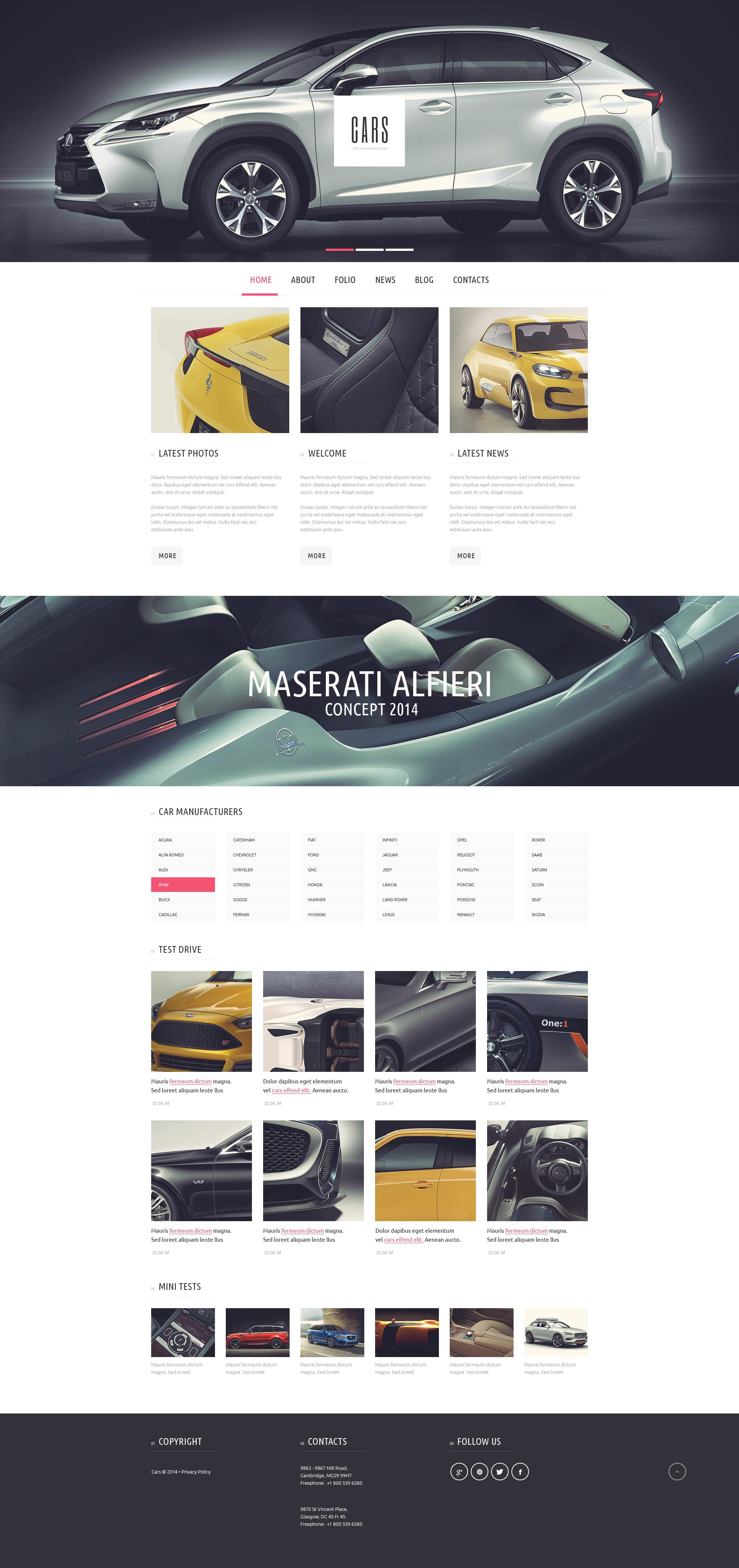 Responsivt Car Passion WordPress-tema #51145