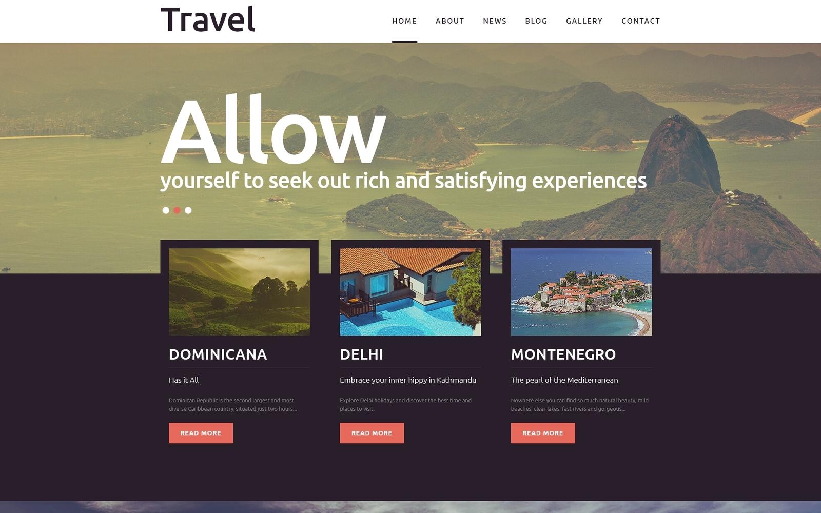 Responsywny szablon Joomla Travel - Fancy Tourism Blog #51191