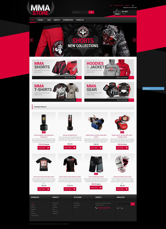 Responsywny szablon Shopify MMA Items #51197