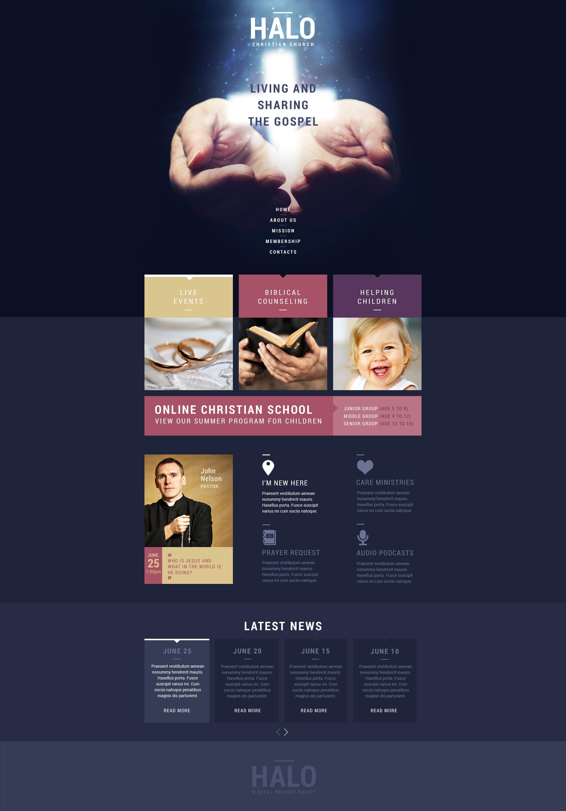 Responsywny szablon strony www #51140 na temat: chrześcijaństwo - zrzut ekranu