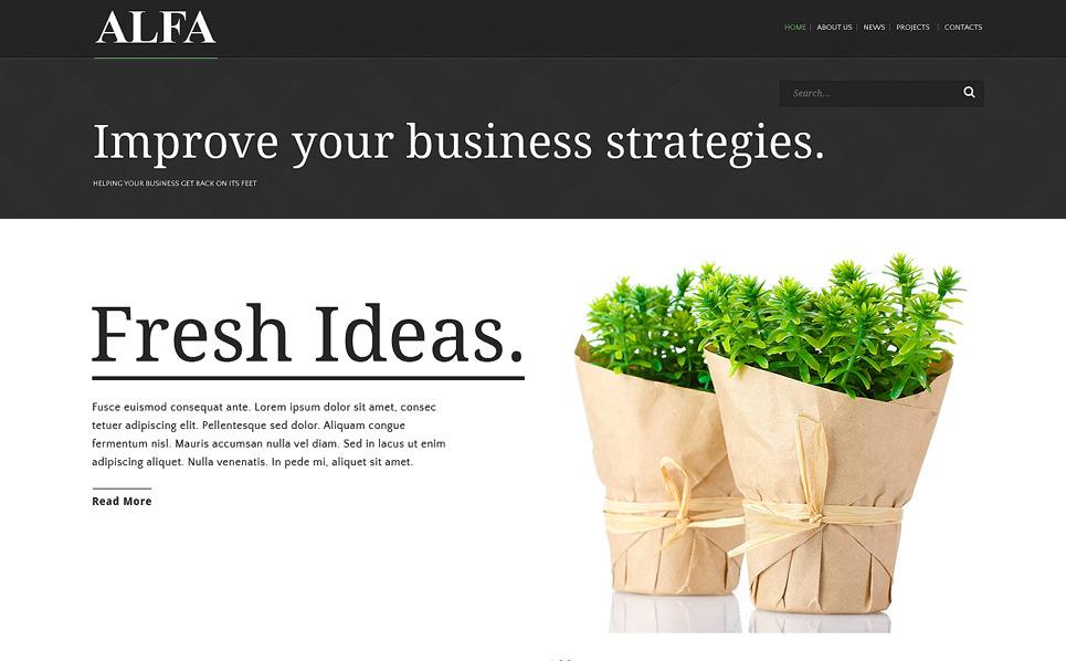 Responsywny szablon strony www #51182 na temat: biznes i usługi New Screenshots BIG