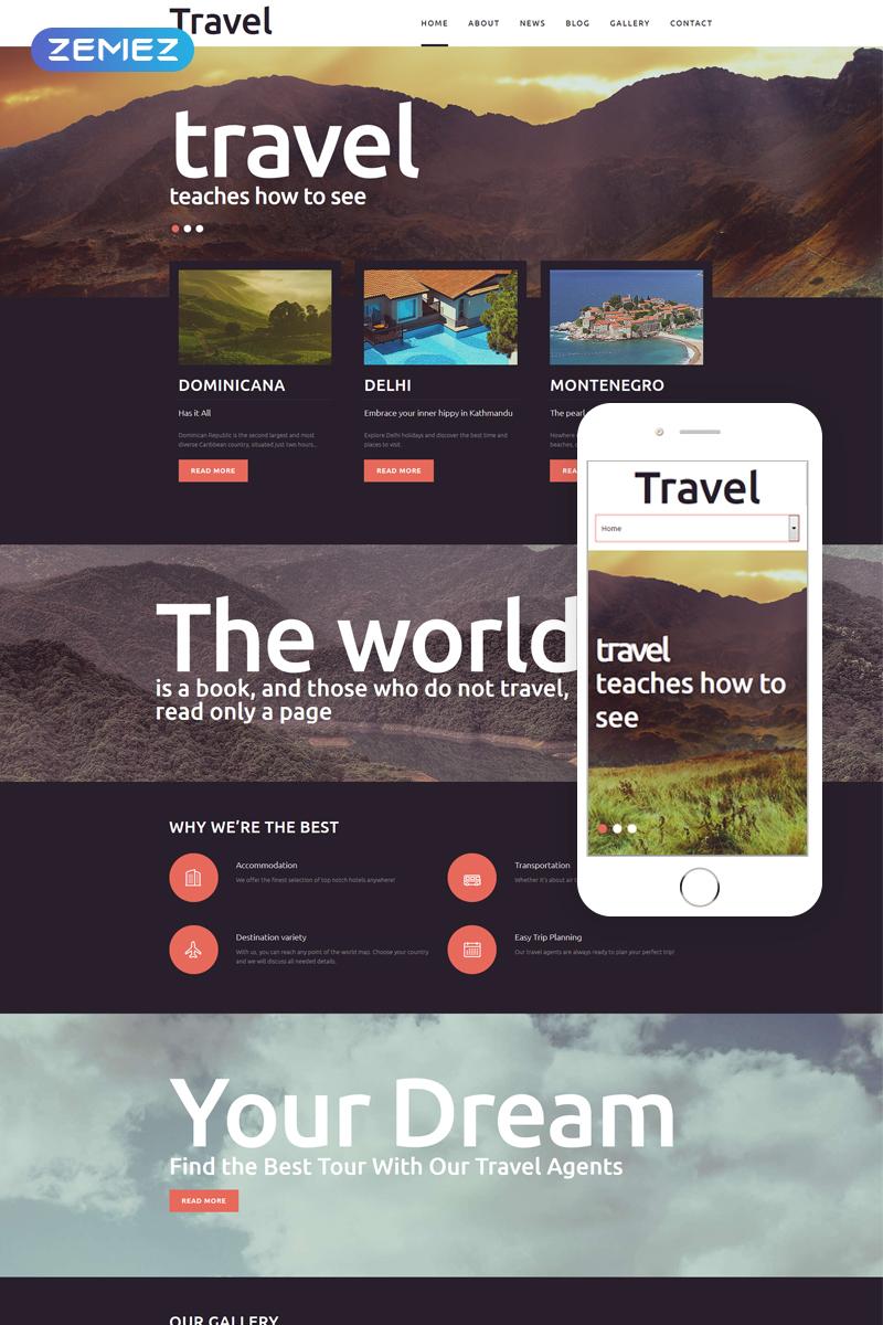 """Responzivní Joomla šablona """"Travel - Fancy Tourism Blog"""" #51191"""