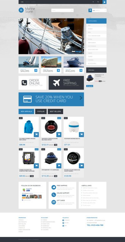 Seamens Gear PrestaShop Theme