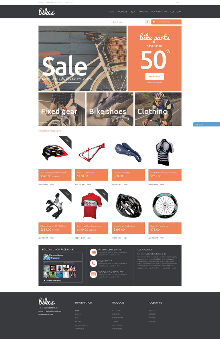 Shopping Bikes Accessories Shopify Theme New Screenshots BIG