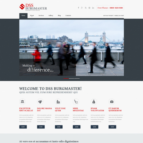 DSS Burgmaster - Joomla! Template based on Bootstrap